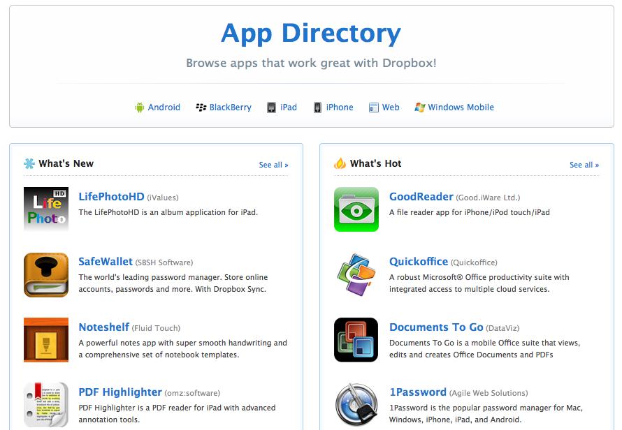 Dropbox apps - SiliconANGLE