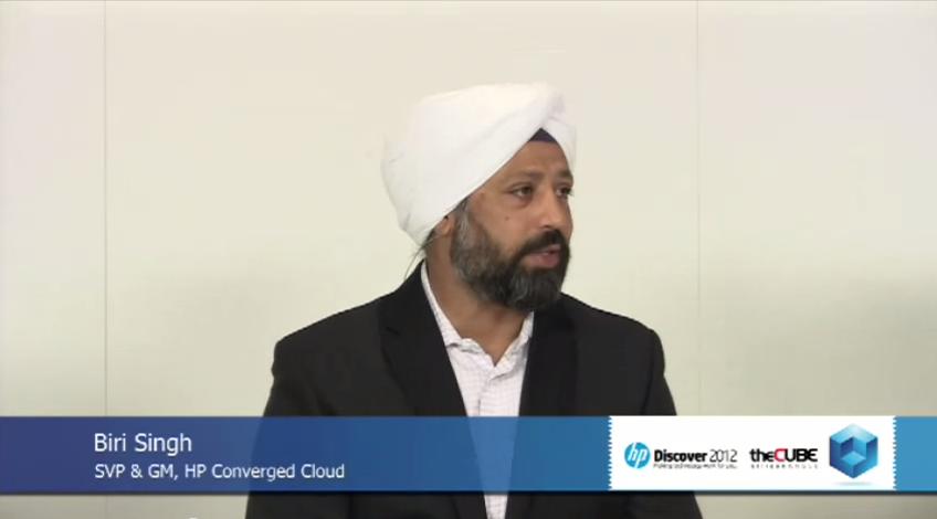 Biri Singh, SVP and GM of HP Converged Cloud
