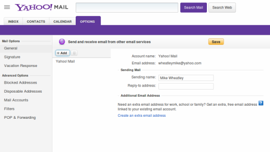 how to connect cloud service to yahoo mail