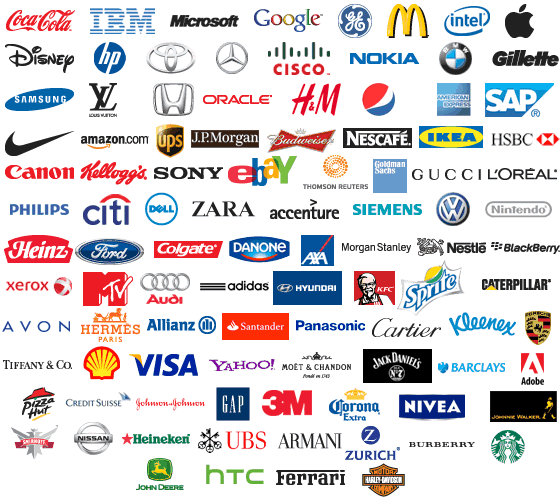 Top 100 Brand Logos