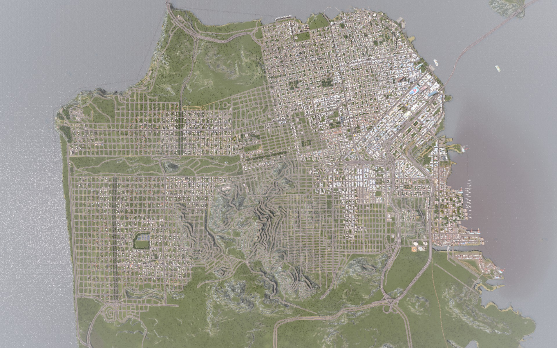 Ambitious player recreates san francisco in city building sim cities cities skylines san francisco gumiabroncs Gallery