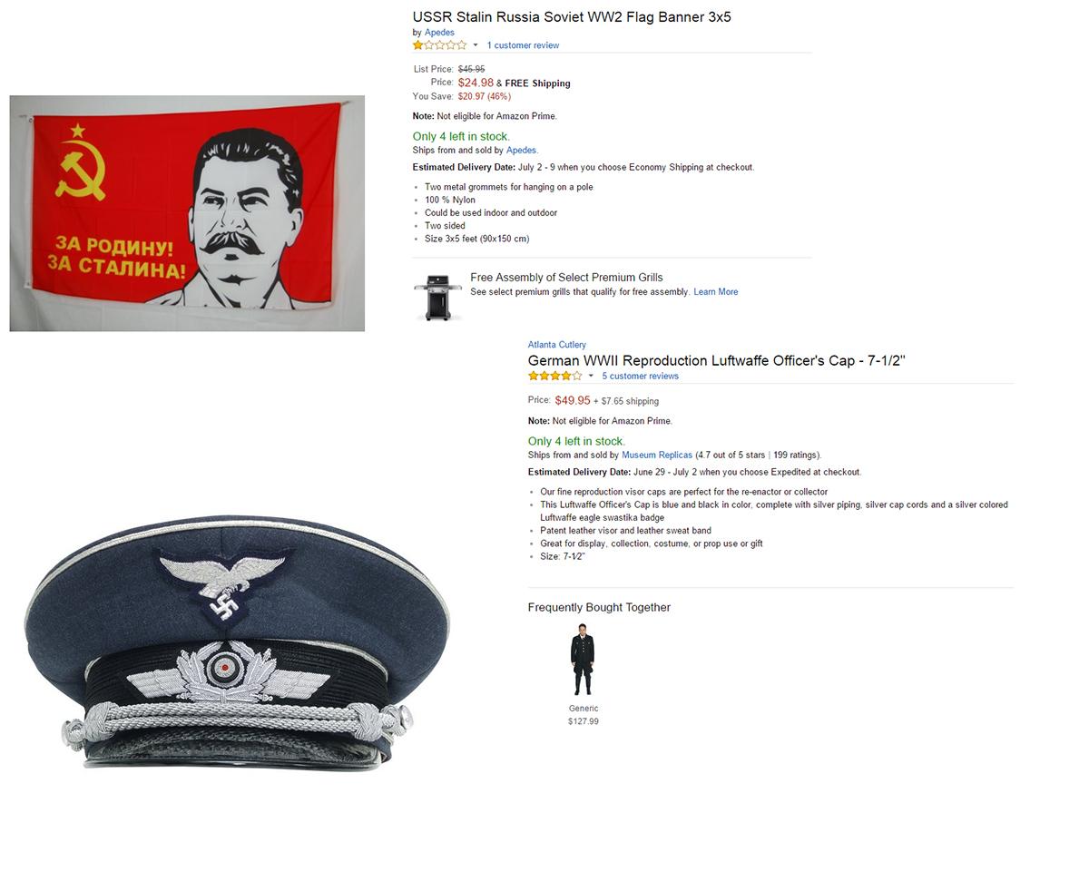Stalin Flag and Nazi hat - SiliconANGLE