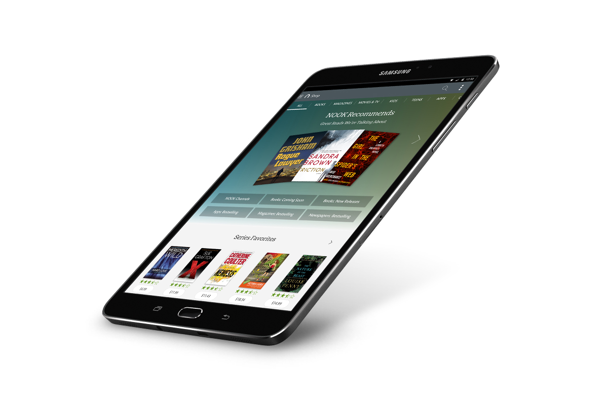 Nook E Reader Vs Kindle: New Barnes & Noble Samsung Galaxy Tab S2 NOOK Vs. Amazon