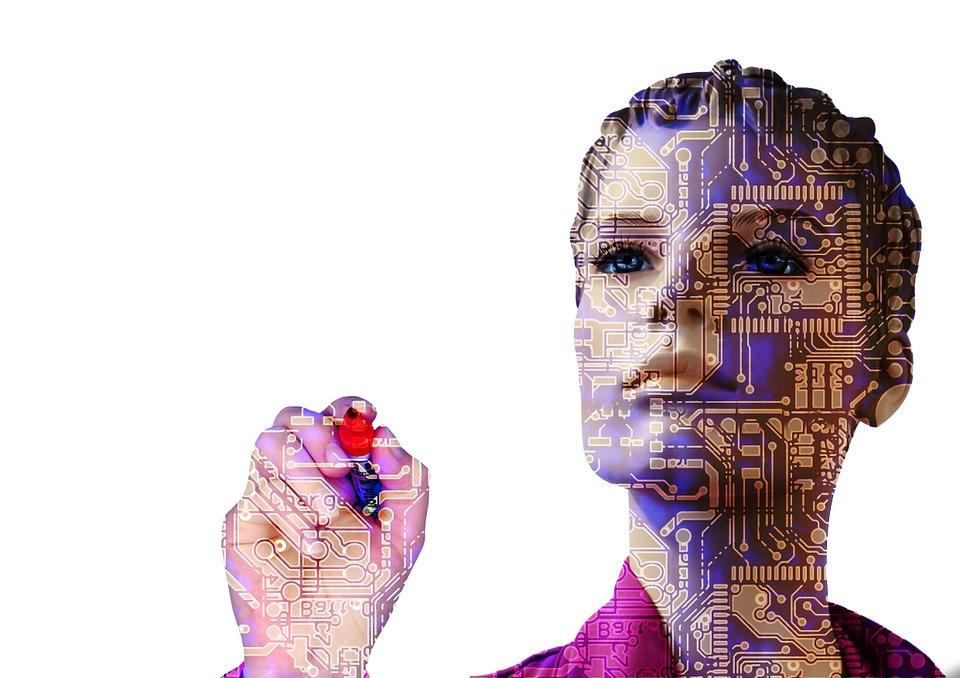 artificial intelligence microchip ai robot machine learning man
