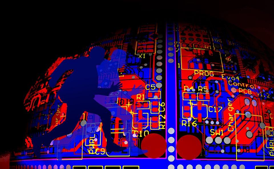 cyberthreat motherboard speed running silhouette