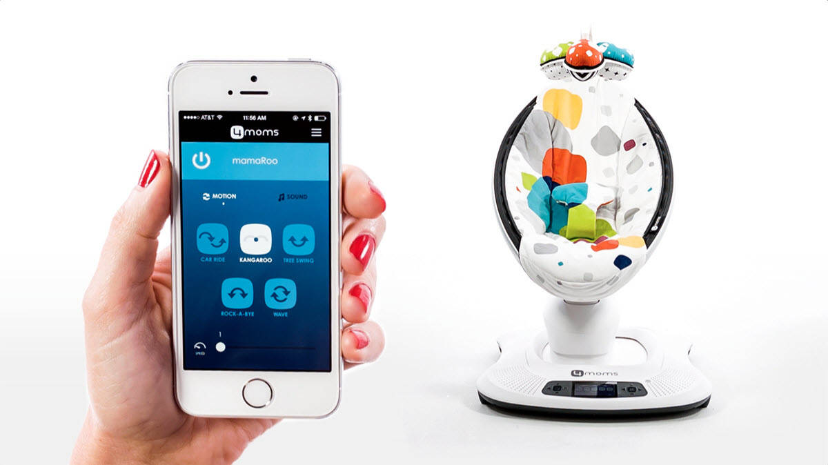 how to connect mamaroo to iphone