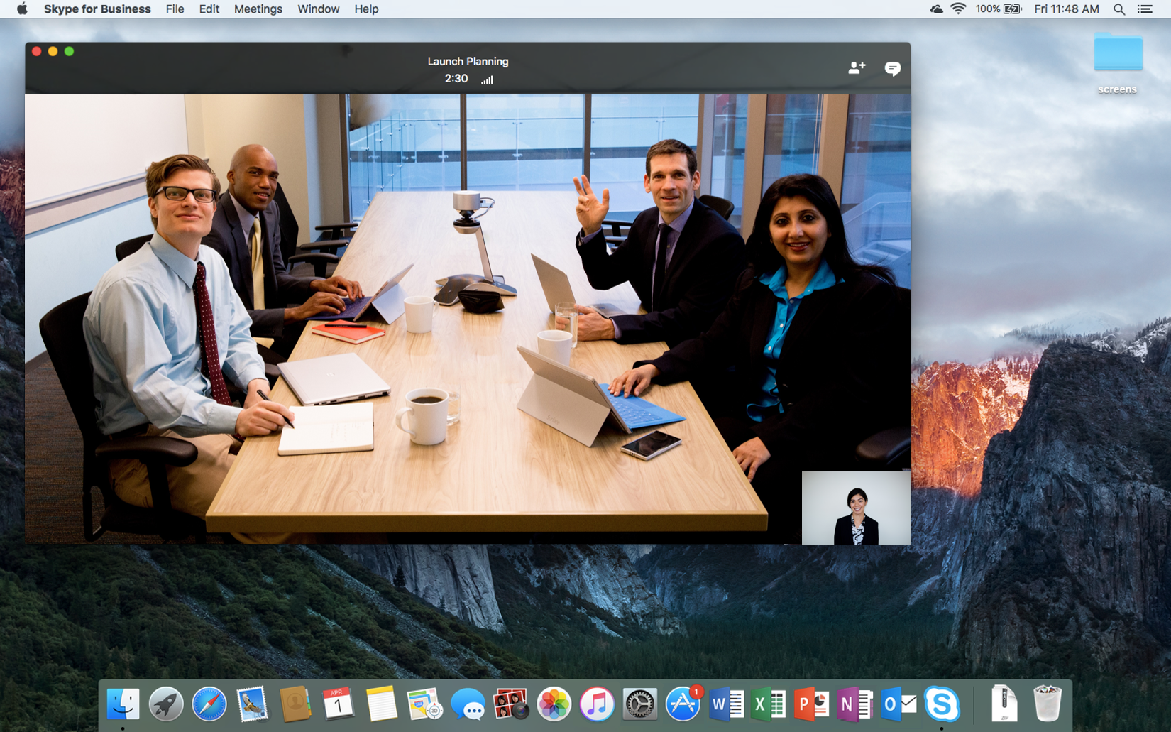 Microsoft brings skype for business for mac in preview along with a office 365 april update 1 ccuart Choice Image