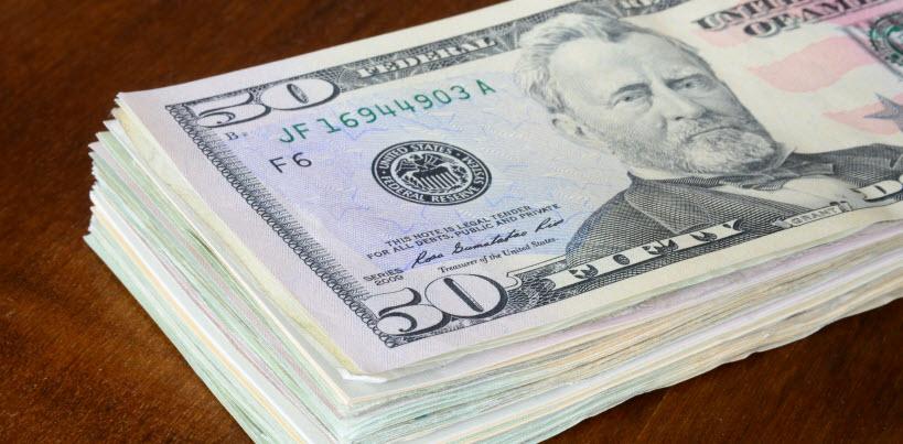 Cash - 50 dollar bills