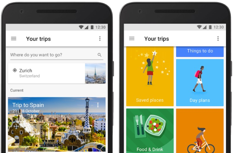 Google launches new one-stop shop travel app Google Trips ...