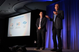 AWS CEO Andy Jassy (left) and VMware CEO Pat Gelsinger (Photo: Seth MacMillan)