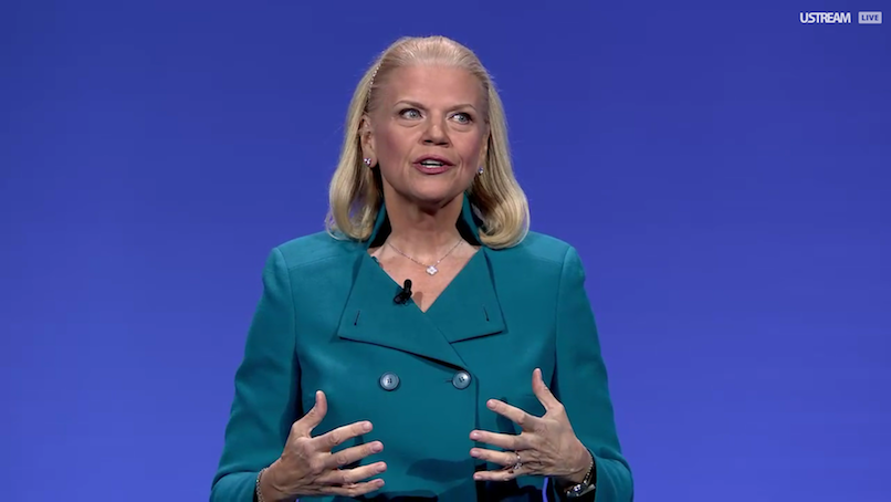 IBM is slipping after whiffing on revenue (IBM)