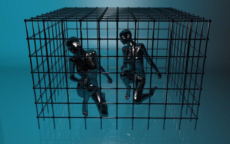 Captive imprisoned locked in