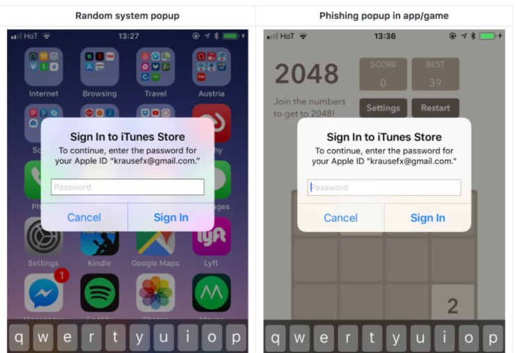 IPhone Apps With Fake Login Popups Can Steal Your Passwords