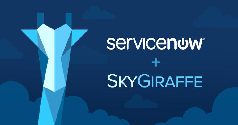 ServiceNow acquires SkyGiraffe for its low-code app development platform