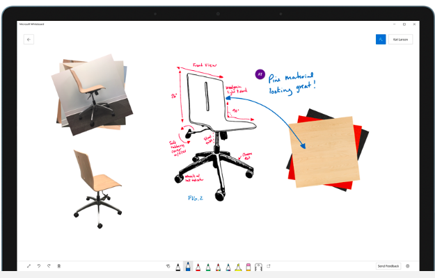 Microsoft launches Whiteboard digital-ink collaboration app in public preview