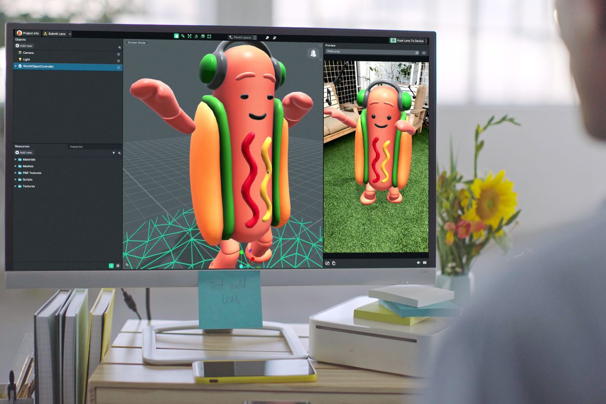 Snapchat's New Lens Studio App Allows Users To Make Dancing Hot Dogs
