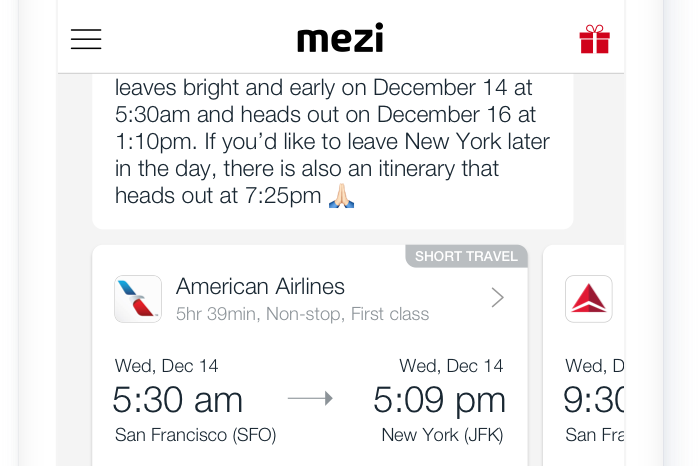 AmEx buys virtual travel assistant Mezi