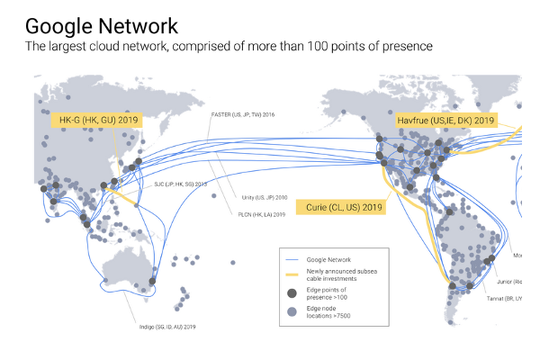 Google building three underwater cables to expand Cloud, compete with Amazon