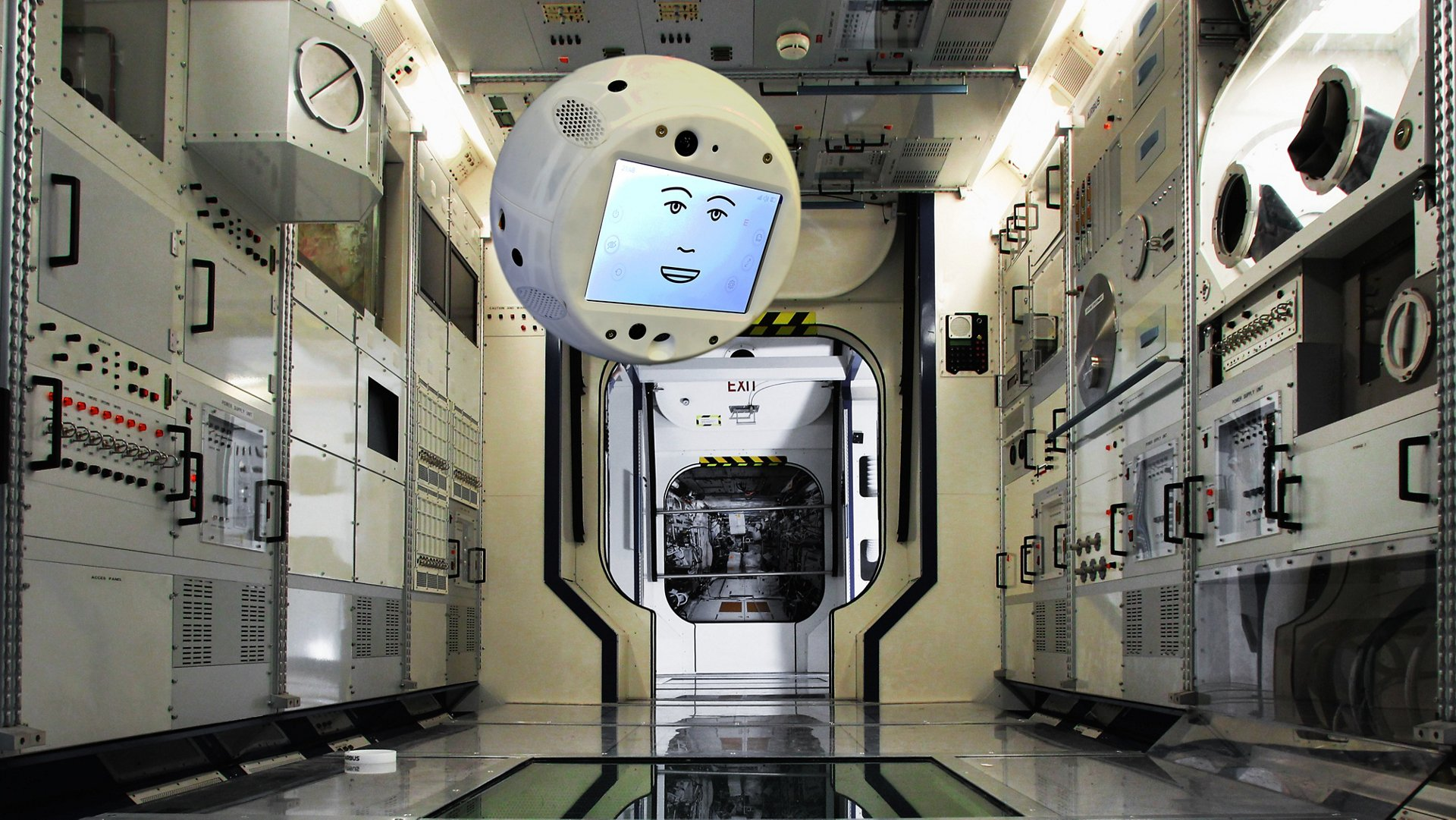 This spherical robot is an AI assistant for the International Space Station