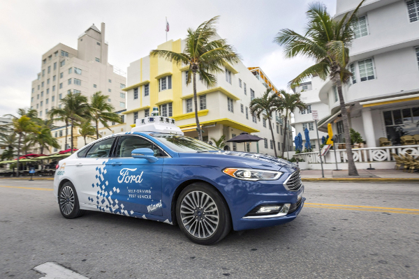 Ford tests its autonomous cars in Miami