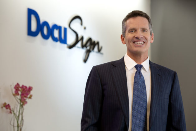 Electronic signature company DocuSign rockets during first day on public markets