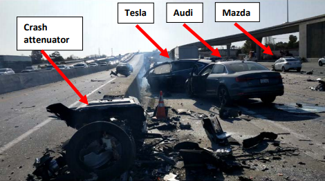 Tesla, Apple slammed by NTSB in 2018 Model X crash report