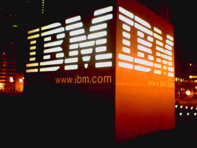 IBM logo and sign