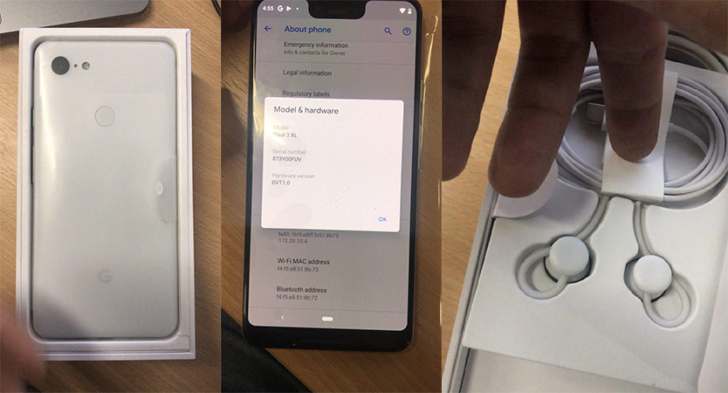 Here's a clear look at the Google Pixel 3 XL
