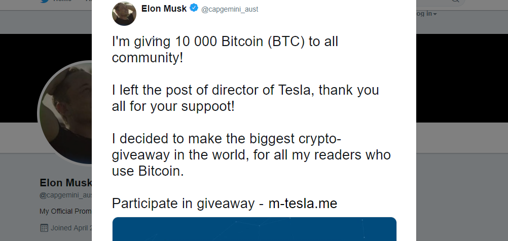 Scammers hijacking verified Twitter accounts to promote Elon Musk bitcoin scams
