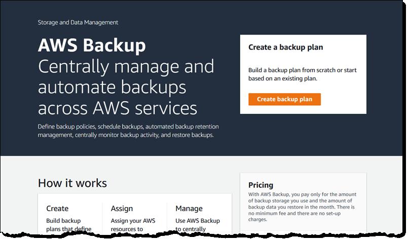 Amazon announces automated AWS Backup service