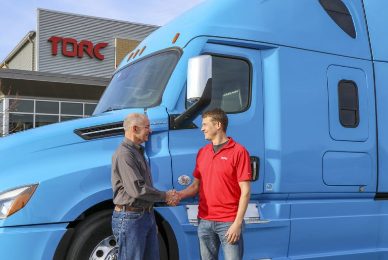 Daimler Trucks North America President and CEO, Roger Nielsen, with Torc CEO, Michael Fleming