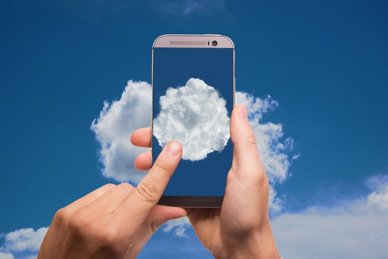 Cloud Mobile Phone Typing Smartphone Phone Finger