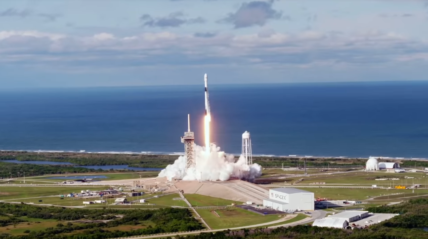 SpaceX launches its first 60 internet satellites into low Earth orbit