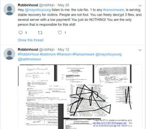 ed97e326642 Analyst finds no evidence of NSA EternalBlue in Baltimore ransomware ...