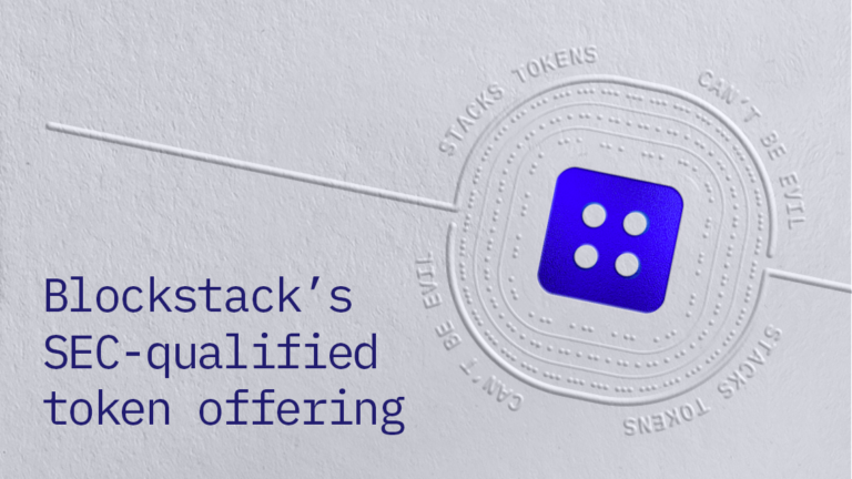 Blockstack becomes first company to get SEC approval for an initial coin offering