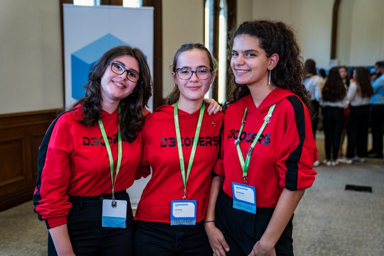 Technovation Girls World Pitch winners Team D3c0ders, Albania