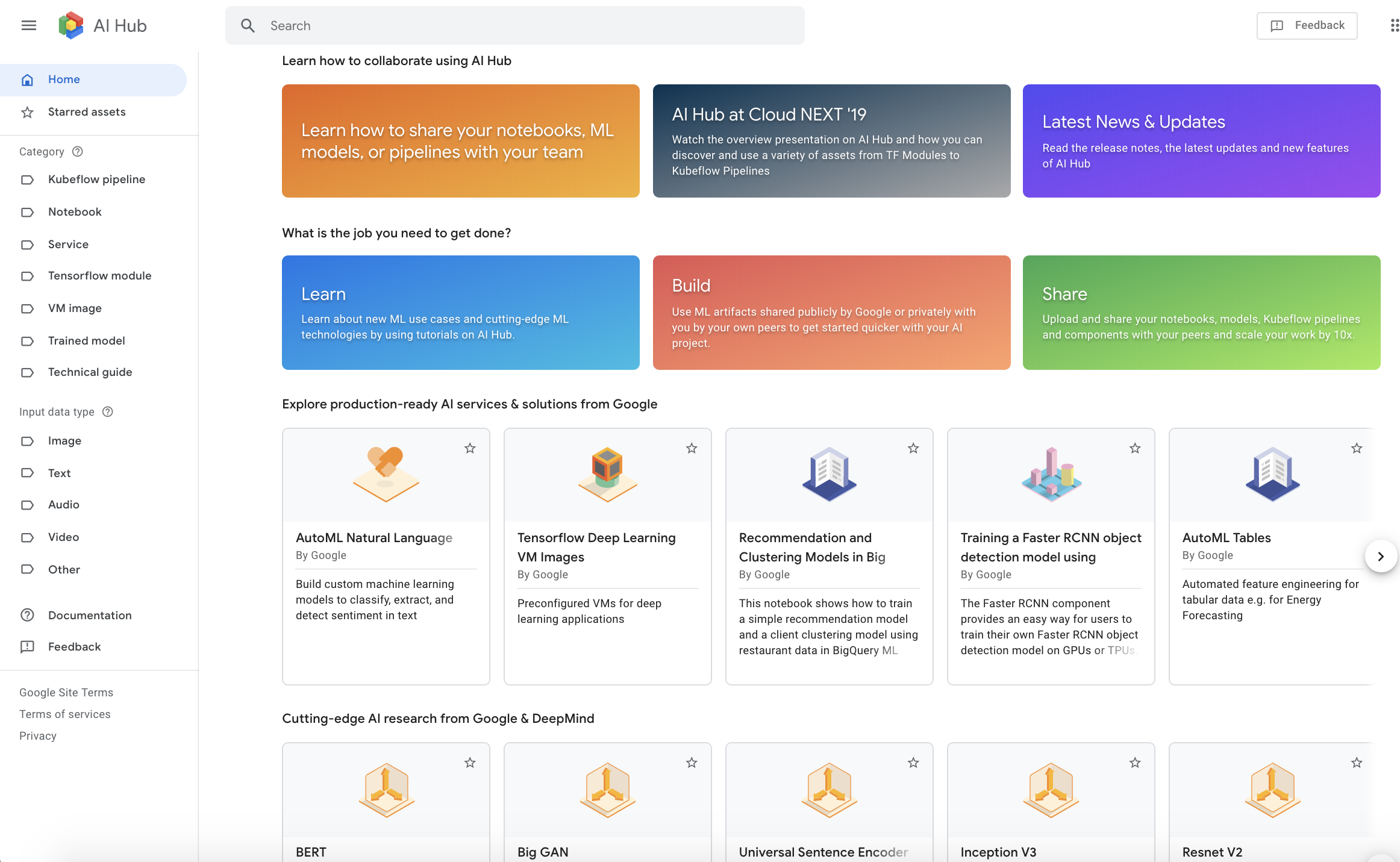 Google's AI Hub gets more sharing and collaboration tools