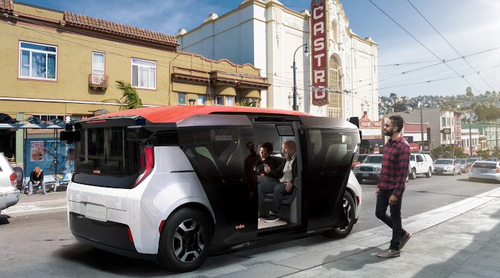 GM's Cruise debuts a self-driving van with no steering wheel or pedals