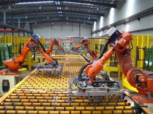 Robots are expected to become more common in factories to enable social distancing Photo: Wikimedia Commons
