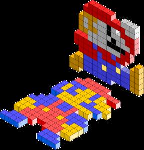 Tetris blocks building low-code