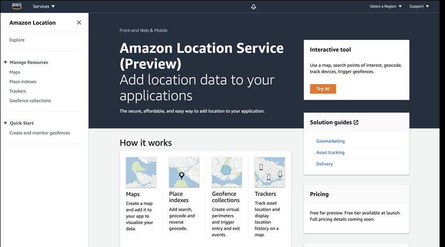 AWS goes after Google Maps Platform with debut of Amazon Location Service - SiliconANGLE