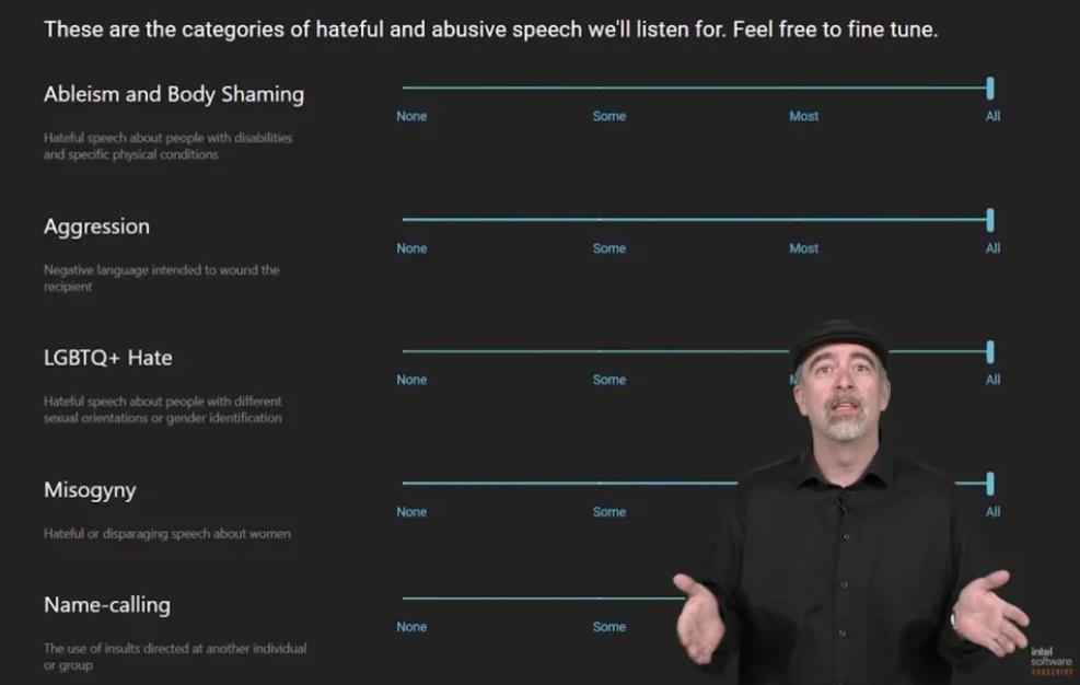 Intel's new hate speech-purging AI Bleep face criticism